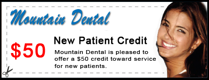 Mountain Dental $50 New Patient Credit Certificate